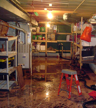 a flooded home in Fairfield